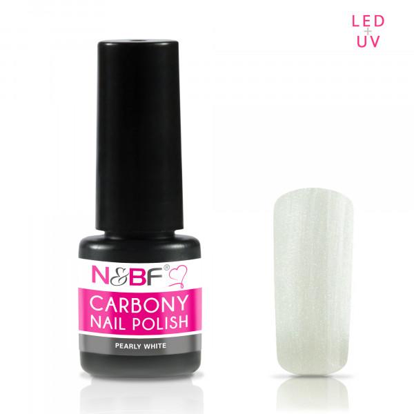 Nails & Beauty Factory Carbony Nail Polish Pearly White 5ml