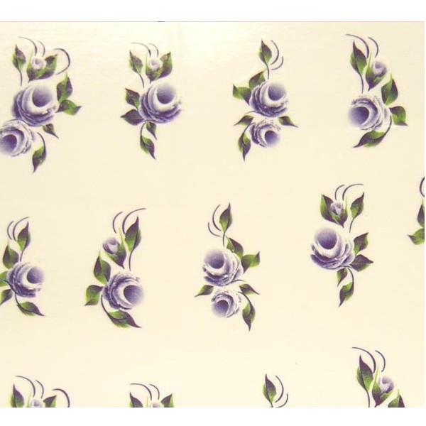Autocollants de Nail Art Violet Flower
