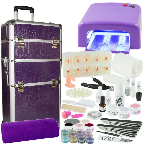 Nails and Beauty Factory Kosmetiktrolley XXXL Starter Set Purple Dreams