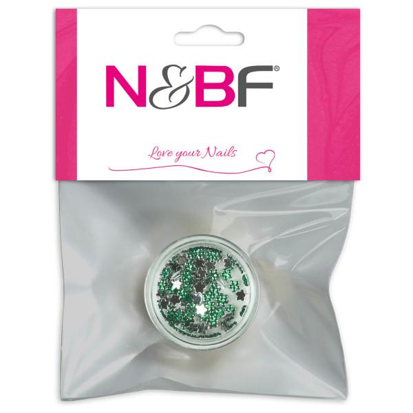 Nails-and-Beauty-Factory-Strasssteine-Blumen-Rhinestones-Flowers-Green